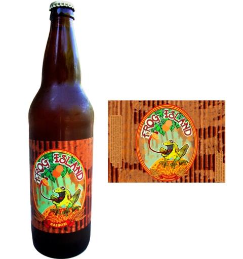 Frog Island Saison Label